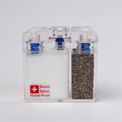 A humidity proof salt and pepper shaker can save your Caprese salad on the beach. (canoeonline.net)
