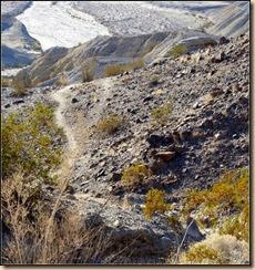 Heading down toward Plit Mountain wash.