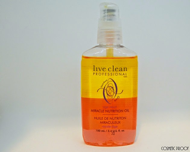 Live Clean Age Resist Miracle Nutrition Oil