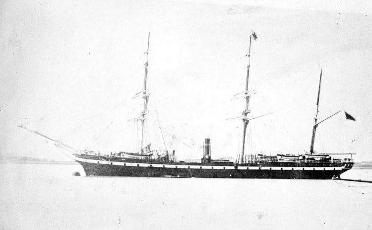 El vapor auxiliar KENT en estado de origen. Foto de la State Library of Victoria.bmp