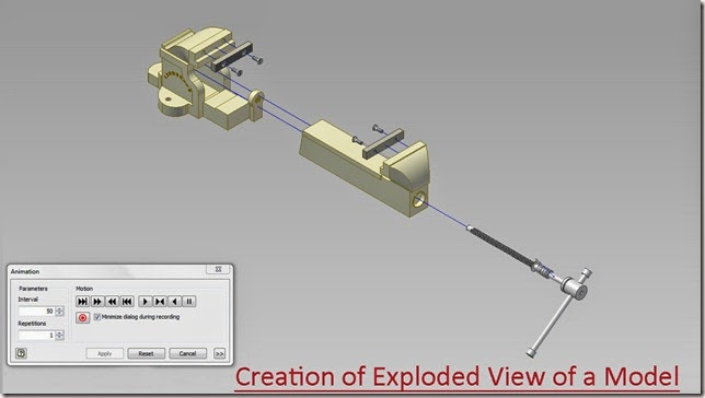 Creation of Exploded View of a Model