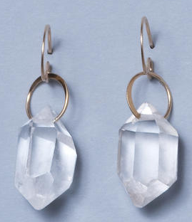Melissa Joy Manning rock crystal drop earrings, $250, http://shopbird.com/