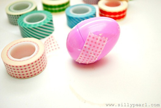 Message In An Easter Egg closed with washi tape