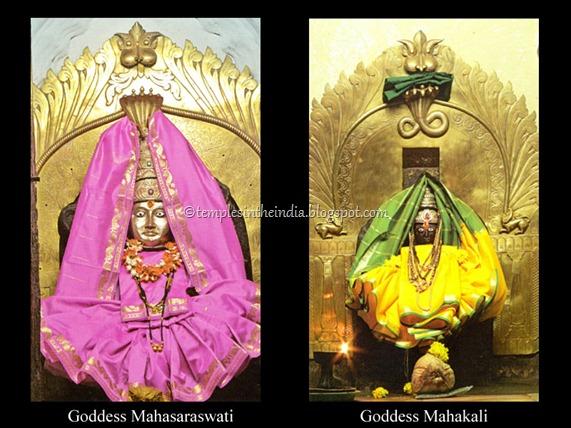 Two shrines-goddes_mahasaraswati-goddes_mahakali