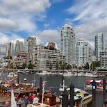 Vancouver skyline in Vancouver, British Columbia, Canada