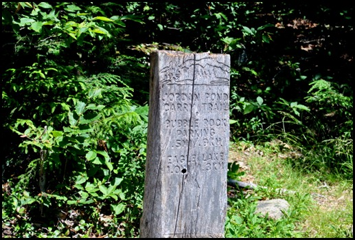 12p - Jordan Pond Trail - The Carry Trail Marker