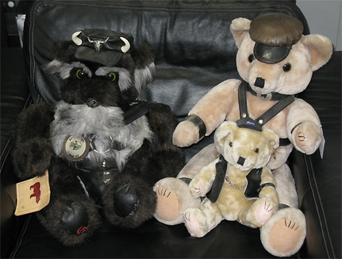 Custom Leather Bears!