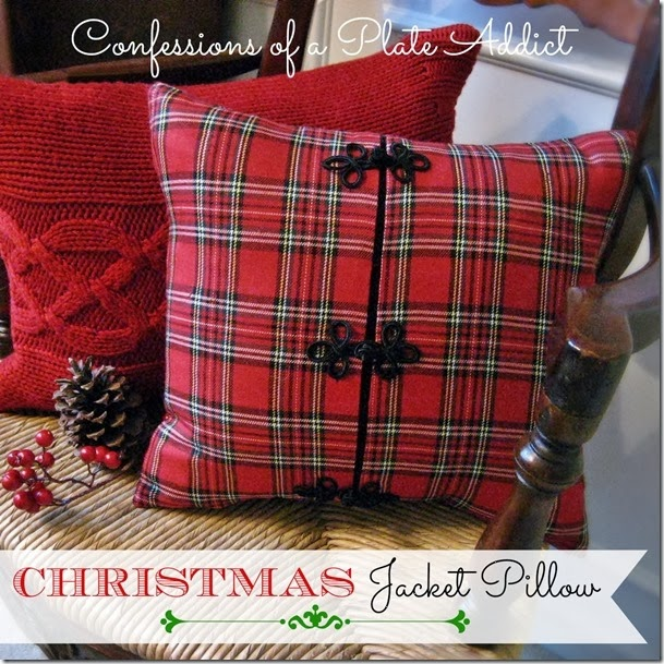 CONFESSIONS OF A PLATE ADDICT Christmas Jacket Pillow