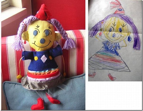 Brinquedos de pelúcia feitos a partir de desenhos de crianças (18)