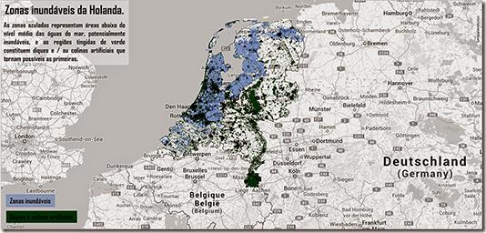 Holanda Inundável e Diques