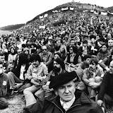 Arazuri (Navarre) 28 août 1977 fatigué mais heureux à l'arrivée de la Marche de la Liberté