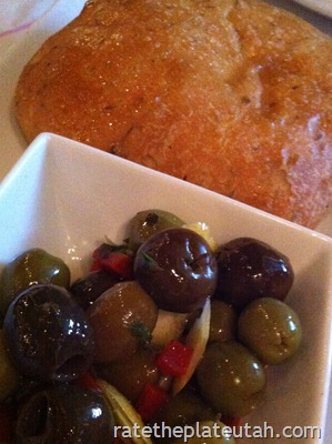 Macaroni Grill Olives and Bread