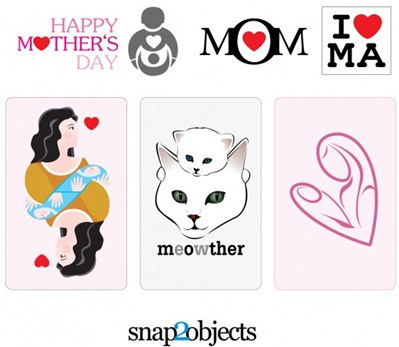 elementos gráficos por el día de la madre