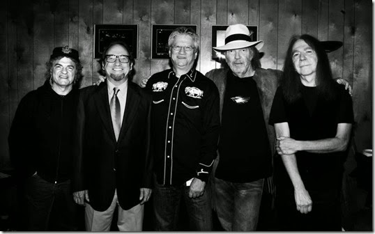 joe vitale, stephen stills, richie furay, neil young and rick rosas - foto eleanor stills