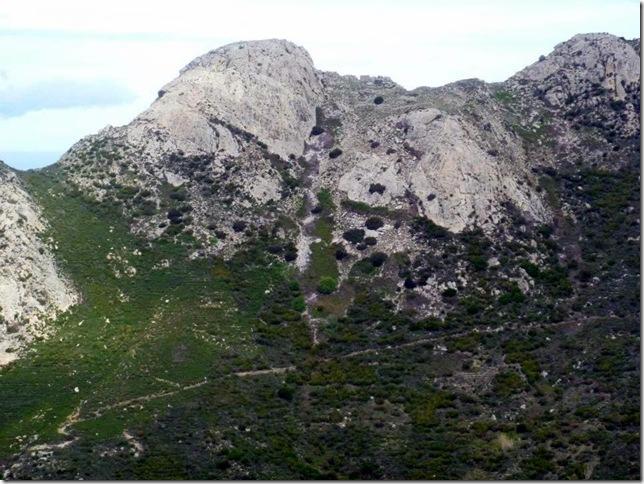 Discesa verso Pomonte ristoro 20 km