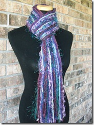 purple teal green scarf