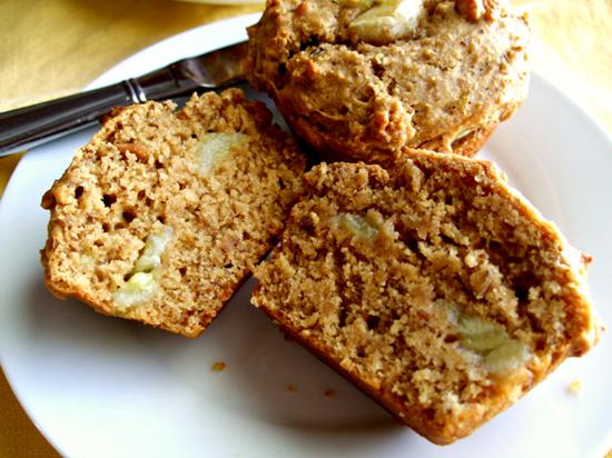 pb banana sandwich muffins 3