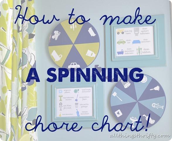 spinning chore chart