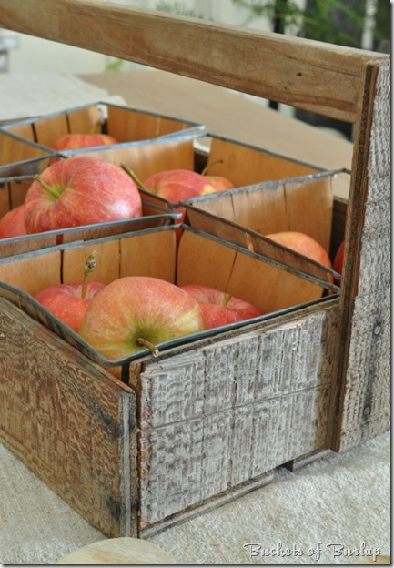 fall dining-apple tote