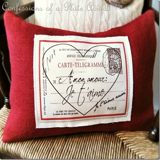 CONFESSIONS OF A PLATE ADDICT Pottery Barn Inspired Valentine Pillow5