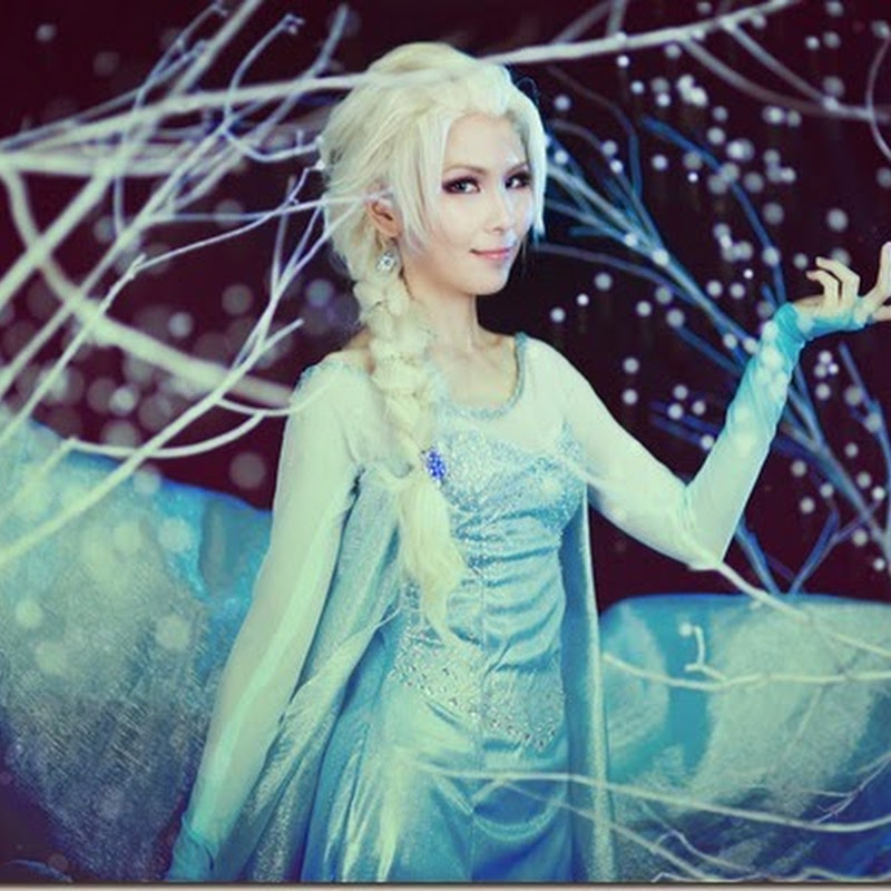 How I made Elsa (FROZEN)'s costume
