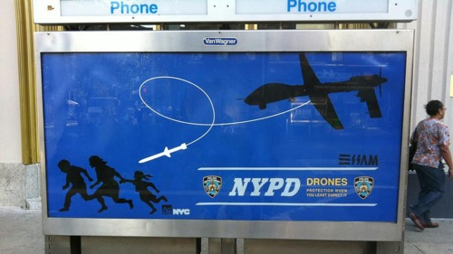 NYPD drone posters