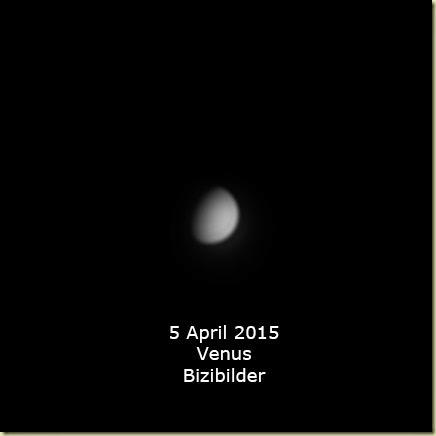 5 April 2015 Venus
