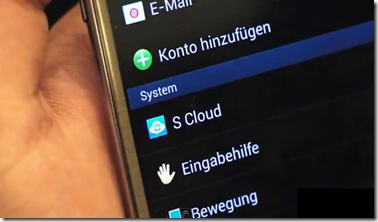 galaxy note II S cloud