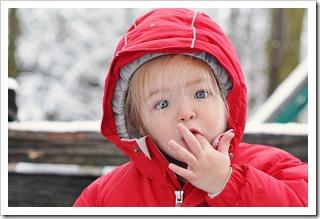 jessie eating snow