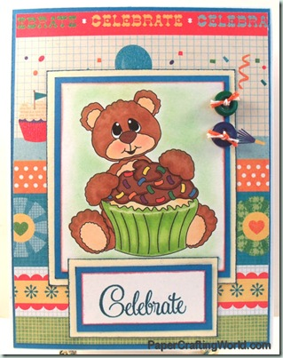 celebrate bear n cupcake w sprinkles 500