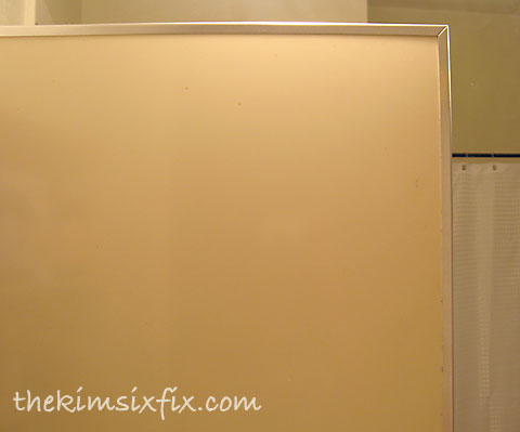 After spray painting cabinet