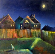 backyard evening nightscene