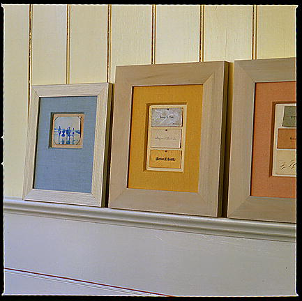 These frames are so unique. They're a very clever use of linen. 