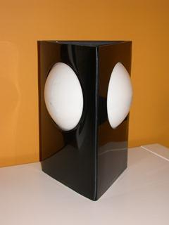 Plastic triangular lamp