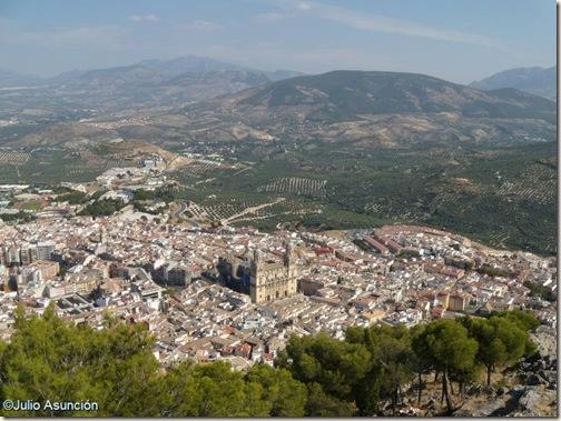 Vista de Jaén desde el mirador de la Cruz - Castillo de Jaén