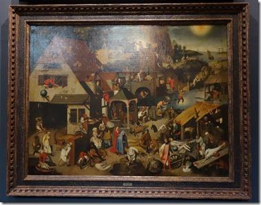 Rockoxhuis ロコックスハウス(美術館)Proverbs<br />Pieter Brueghel II<br />(Brussels 1564 or 1565 – Antwerp 1638)