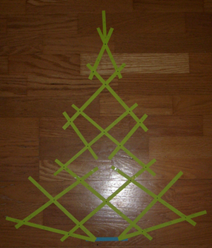 Christmas tree scale model