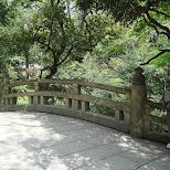 yoyogi walk bridge in Yoyogi, Tokyo, Japan