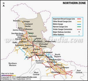 PH Northern Zone Railway Map