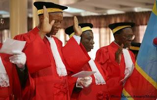 Prestation serment des magistrat congolais
