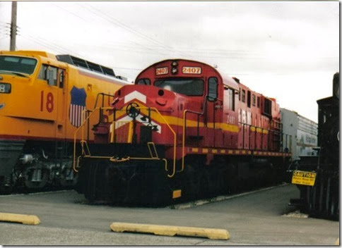Green Bay & Western RSD-15 #2407 at the Illinois Railway Museum on May 23, 2004