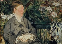 Manet - Mme Manet in the Conservatory