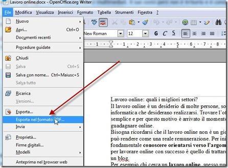 convertire in PDF