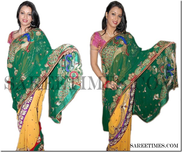Siddhie_Green_Designer_Saree