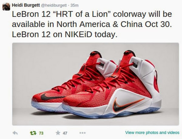 Nike LeBron 12 8220Heart of a Lion8221 Drops This Thursday After All