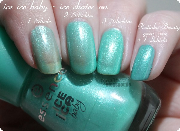 "essence ""green scene"" kalinka beauty TE + ""ice skates on"" ice ice baby TE"