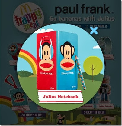 McDonalds happy meal X Paul Frank - Go Banana with Julius notebook