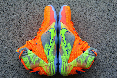 nike lebron 12 gr orange silver yellow 2 01 A Detailed Look at the Orange / Volt Nike LeBron 12 Nerf