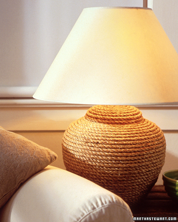 Rope Lamp. (marthastewart.com/273143/rope-lamp)