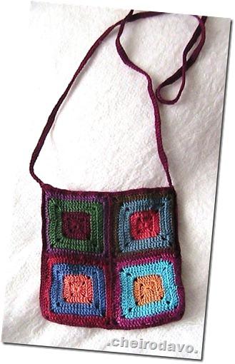 Bolsa de square colorido (pequena) verso